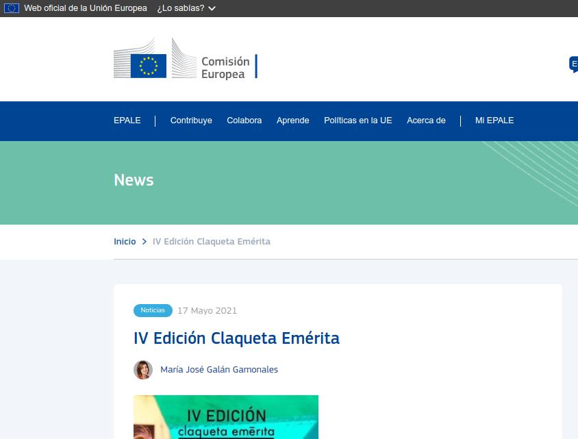 Claqueta Emérita en la Comisión Europea