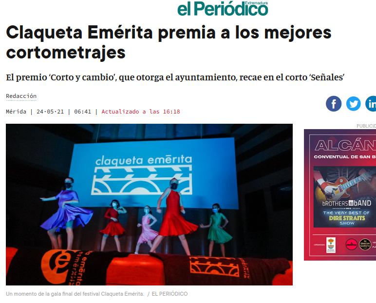 Claqueta Emérita en El Periódico de Extremadura